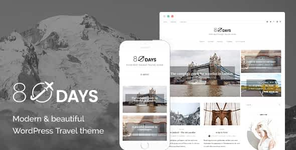 EightyDays - A WordPress Theme For Travel Blogs Nulled