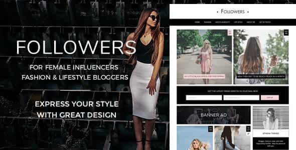Followers - Fashion & Lifestyle WordPress Blog Theme for Soc... Nulled