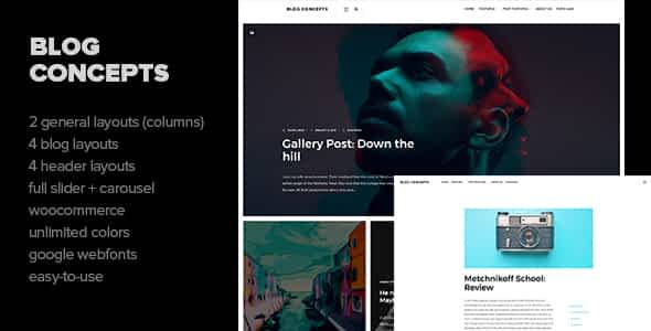 Blog Concepts - Minimalist WordPress Theme for your Blog / M... Nulled