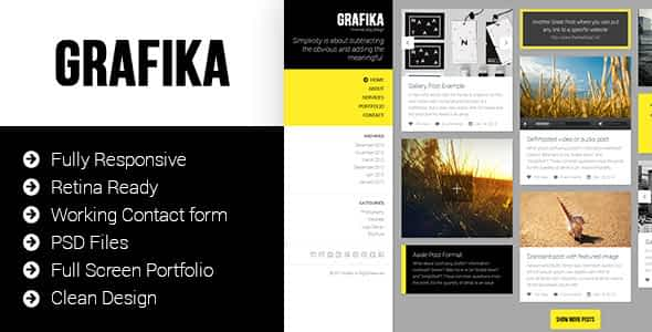Grafika - Photography & Blog HTML Template Nulled