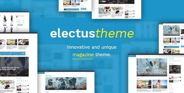 Electus - Clean Blog/Magazine WordPress Theme Nulled