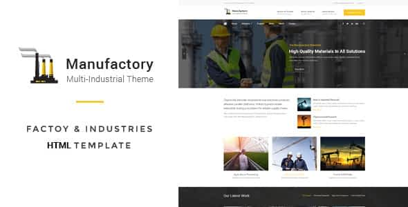 Manufactory: Multi-Industrial HTML Template Nulled