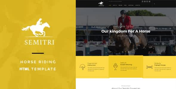 Semitri - Horse Riding HTML Template Nulled