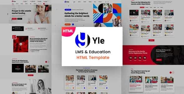 YLE - Education & LMS HTML Template Nulled