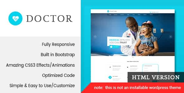 Doctor - Medical & Health HTML Template Nulled