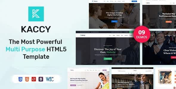 Kaccy - Services Multi-Purpose HTML Template Nulled