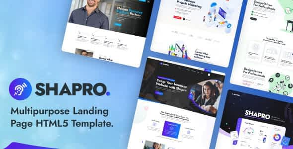 Shapro - Multipurpose Landing Page HTML5 Responsive Template Nulled