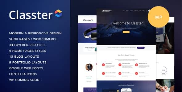 Classter | A Colorful Multi-Purpose WordPress Theme Nulled