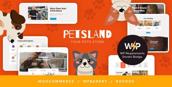 Pets Land | Domestic Animals Shop & Veterinary WordPress The... Nulled