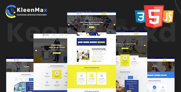 Kleenmax - Cleaning Services & Company HTML Template Nulled