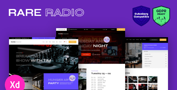Rare Radio | Online Music Radio Station & Podcast WordPress ... Nulled
