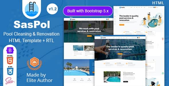 Saspol - Pool Cleaning & Renovation HTML Template Nulled