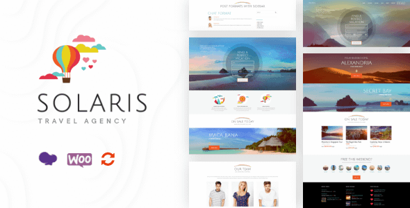 Solaris | Travel Agency and Tour Booking Tourism  WordPress ... Nulled