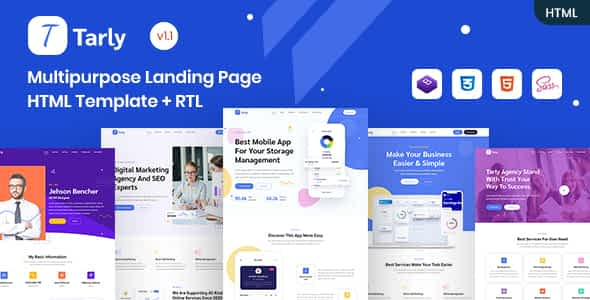 Tarly - Multipurpose Landing Page HTML Template Nulled