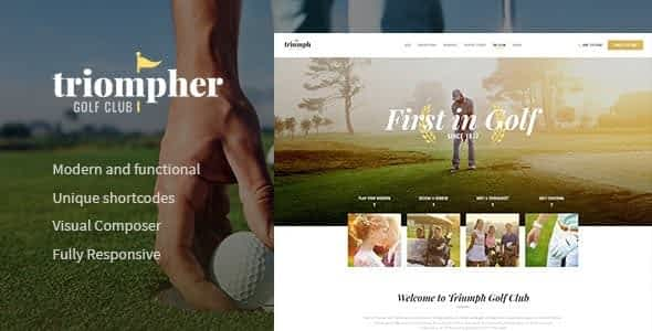 Triompher | Golf Course & Sports Club WordPress Theme Nulled