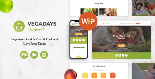 VegaDays - Vegetarian Food Festival & Eco Event WordPress Th... Nulled