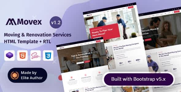 Movex - Moving & Renovation Services HTML Template Nulled
