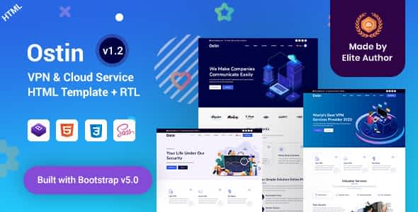 Ostin - VPN & Cloud Services HTML Template Nulled