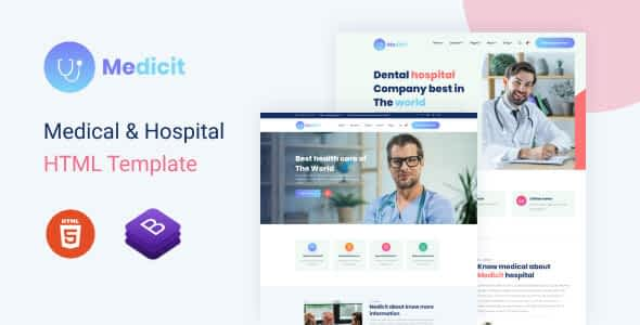 Medicit – Medical and Health Html Template Nulled