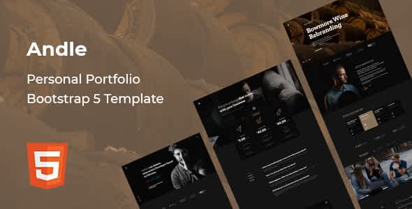 Andle - Personal Portfolio Bootstrap 5 Template Nulled