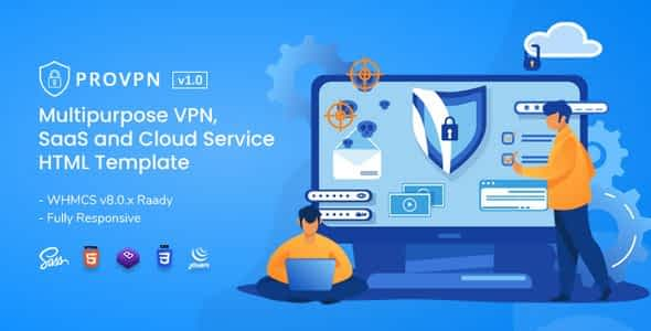 Provpn | Multipurpose VPN HTML Template with WHMCS Nulled