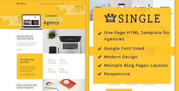 Single HTML Template Nulled