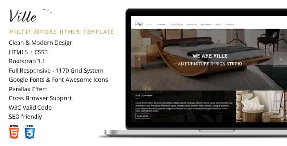 Ville - Multi-Purpose HTML Template Nulled