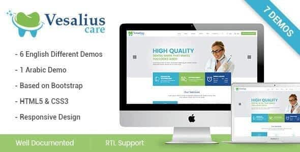 Vesalius Care HTML Template Nulled