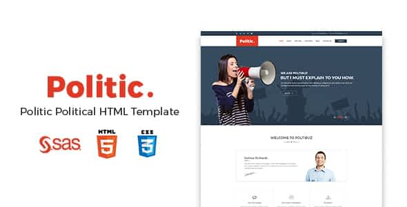 Politic – Political HTML Template Nulled