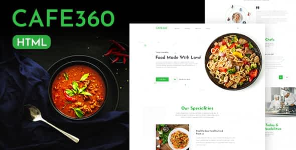 Cafe360 | Restaurant One Page HTML Template Nulled