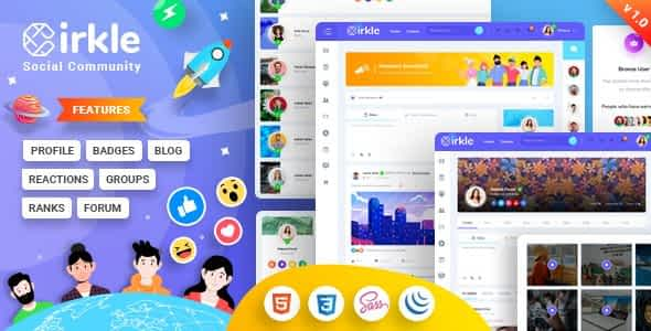 Cirkle – Social Networking HTML Template Nulled