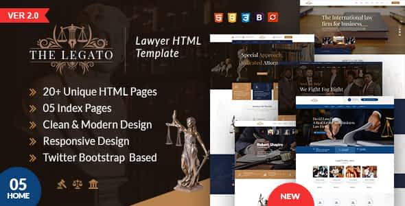 The Legato lawyer HTML template Nulled