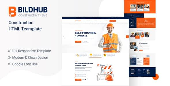 Bildhub - Construction HTML Template Nulled