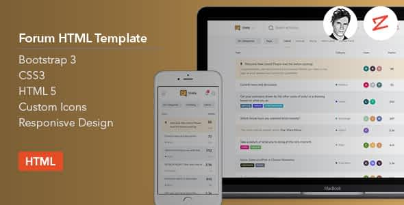 Forum HTML Template Nulled