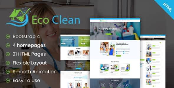 Eco Clean - Cleaning HTML Template Nulled