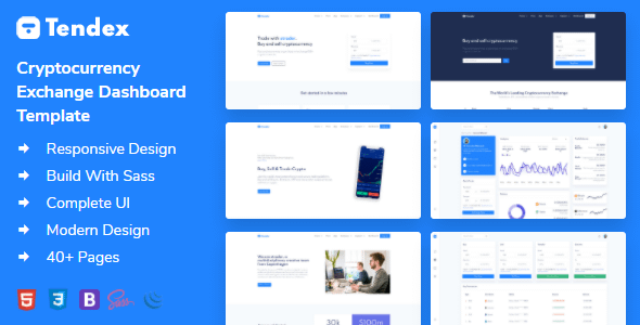 Tendex - Cryptocurrency Exchange HTML Template + Dashboard Nulled