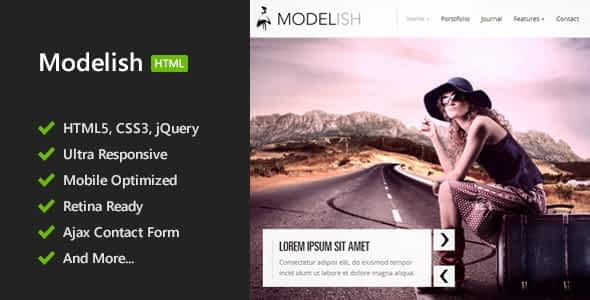 Modelish - HTML5 Site Template Nulled
