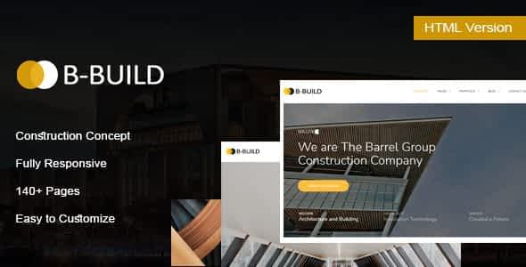 B-Build - Construction HTML Template Nulled