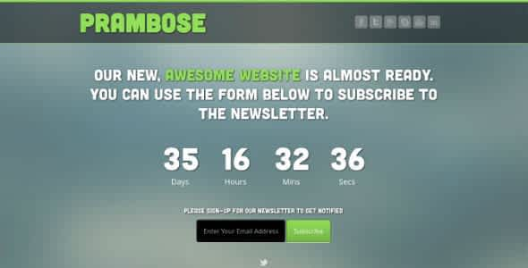 Prambose - Under Construction HTML Template Nulled