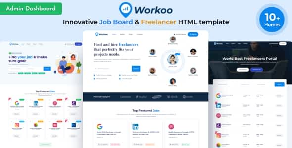 Workoo - Job Board & Freelancer Marketplace  HTML Template Nulled