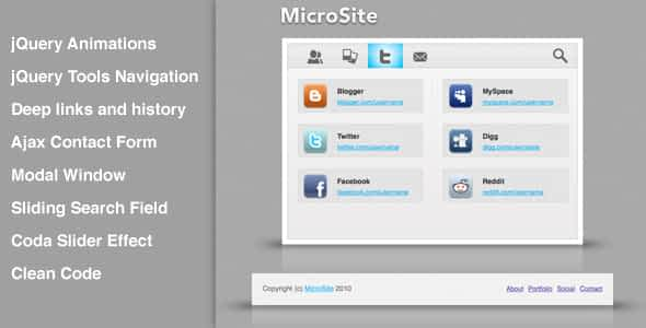MicroSite, clean and smooth micro template Nulled