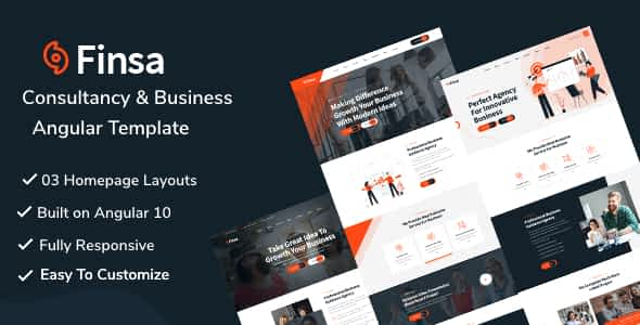 Finsa -  Consultancy & Business Angular Template Nulled