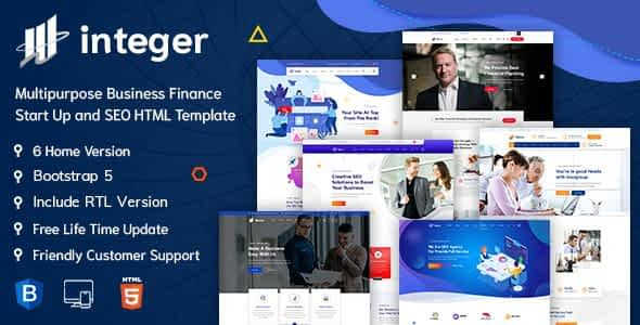 INTEGER – Creative Digital Agency HTML-5 Template + RTL Ready Nulled