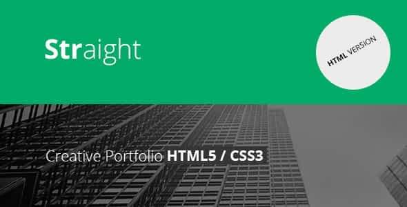 Straight - Creative Flat HTML Template Nulled