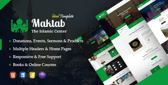 Maktab - Islamic Institute Responsive HTML Template Nulled