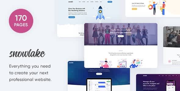 Snowlake - Creative Business & Startup Template Nulled