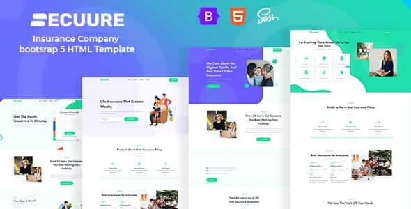 Secuure - Insurance Company bootsrap 5 HTML Template Nulled