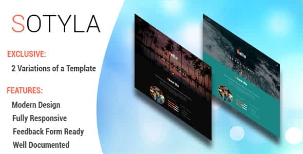Sotyla - Creative Personal Portfolio HTML 5 Template Nulled