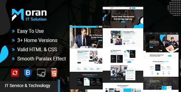 Moran - Technology & IT Solutions Template Nulled