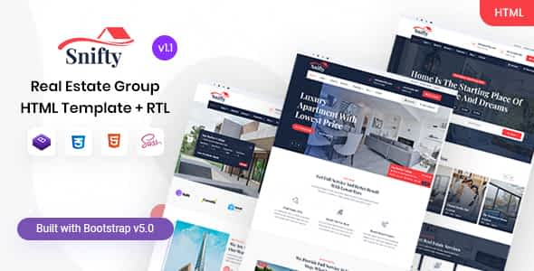 Snifty - Real Estate Group HTML Template Nulled